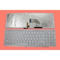 Bàn phím laptop SONY SVE- 15,SVE-17 (MÀU TRẮNG+CÓ KHUNG + CÓ ĐÈN) TỐT keyboard