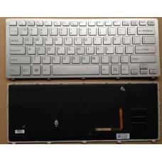 Bàn phím laptop SONY SVF- 14A MÀU BẠC (CÓ ĐÈN+CÓ KHUNG) châu âu keyboard