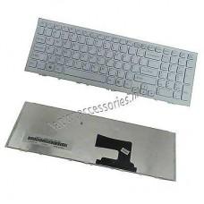 Bàn phím laptop SONY VPC- EH (MÀU TRẮNG +CÓ KHUNG) tiếng anh keyboard