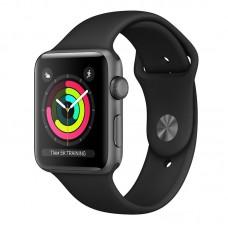 Đồng hồ Apple Watch S3 GPS, 42mm viền nhôm, dây cao su màu đen
